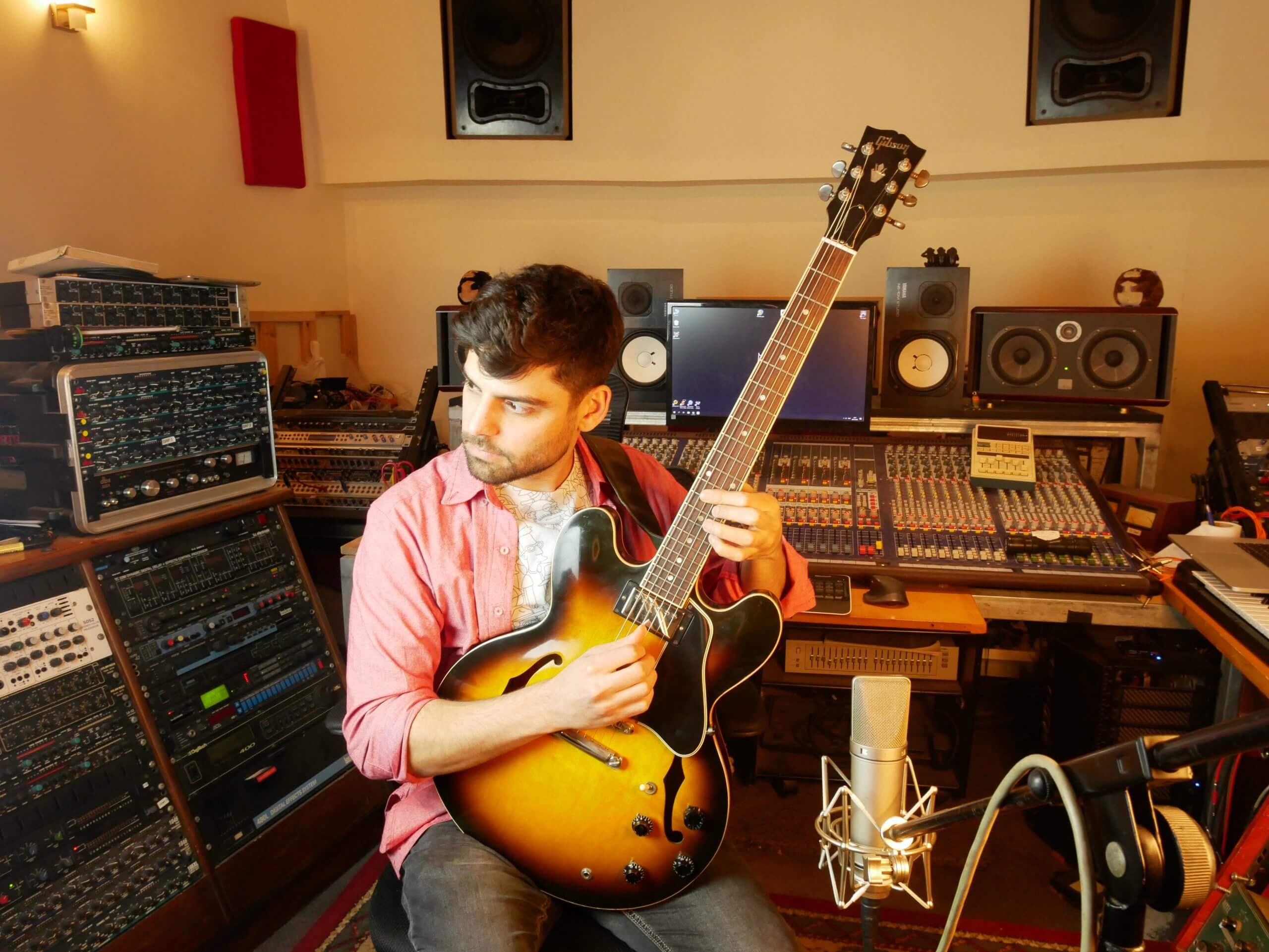 daniel weiss in the studio